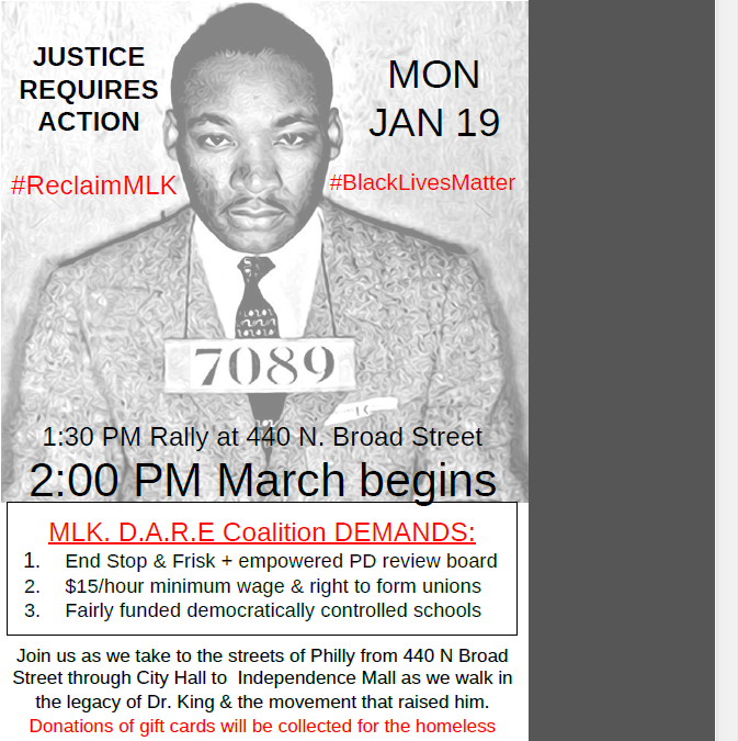 MLK D.A.R.E – Why I Will Be Marching On Monday