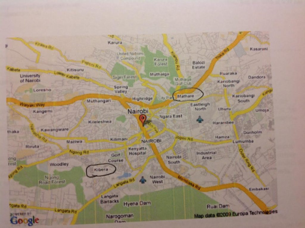 nairobi map circled